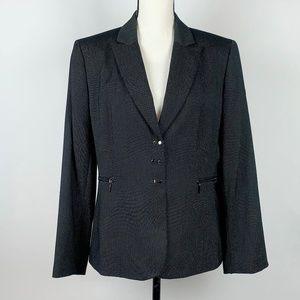 Tahari Arthur S Levin Black PolkaDot Blazer Jacket